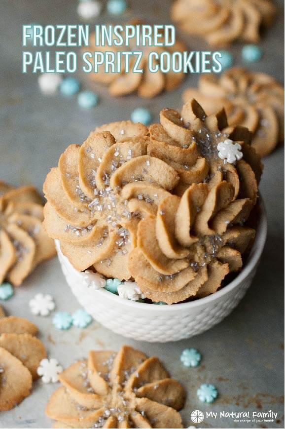 Frozen-Inspired Paleo Spritz Cookies Recipe {Paleo, Gluten-Free, Clean Eating, Dairy-Free}