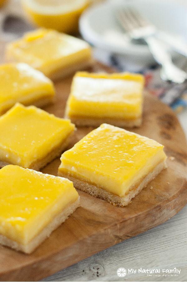 Lemon Bars Recipe {Paleo, Clean Eating, Gluten-Free} Paleo Lemon Bars Recipe