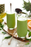 Tropical Green Smoothie Recipe {Paleo, Gluten Free, Dairy Free, Clean Eating, Vegan)