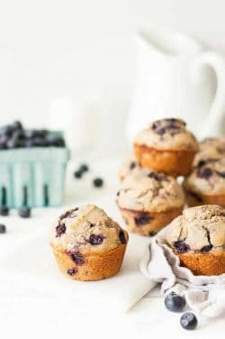 Clean Eating Blueberry Muffins 1a