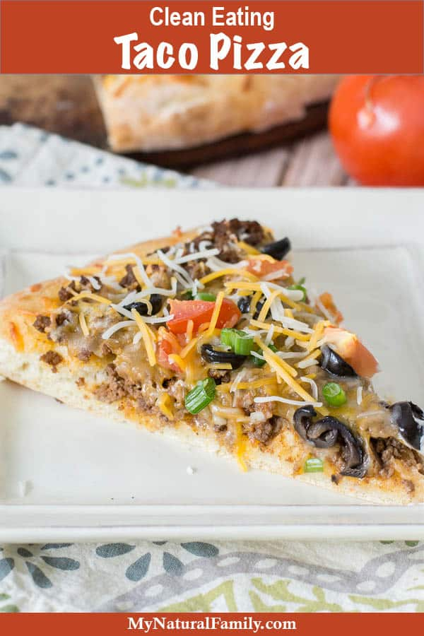 Clean Eating Taco Pizza Recipe with Spicy Marinara Sauce