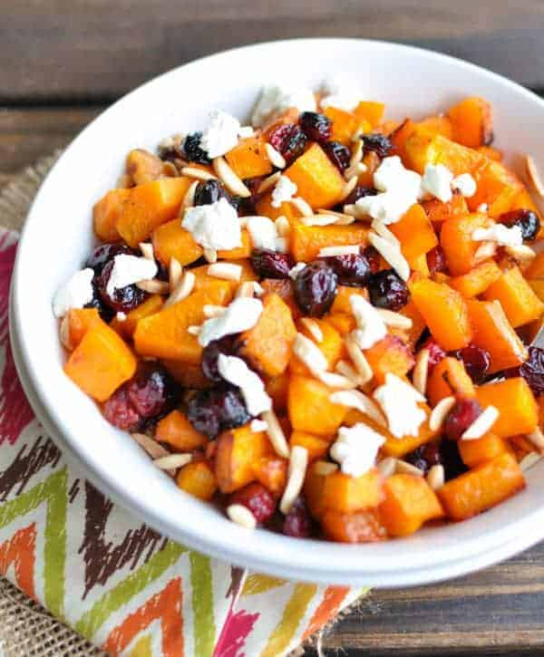 Roasted Butternut Squash and Cranberries