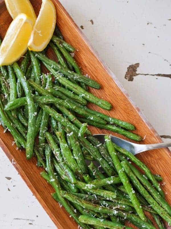 Lemon Parmesan Green Beans