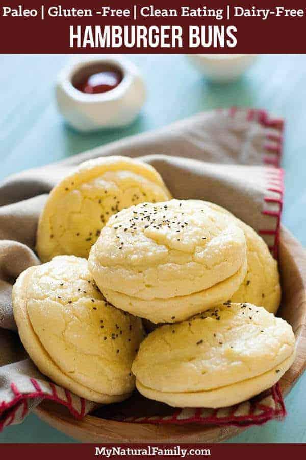 This Paleo hamburger buns recipe is surprisingly easy and good. I especially love it with Paleo sloppy joes. #mynaturalfamily #paleo #paleorecipes #healthyeating #healthyrecipes #healthyfood