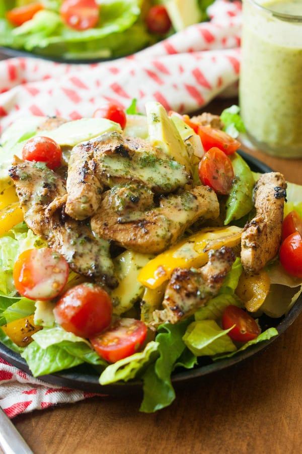 Cilantro Lime Fajita Salad