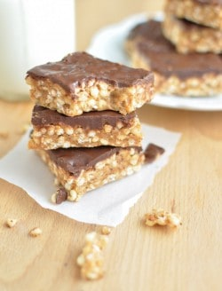 Clean Eating Puffed Millet Bars