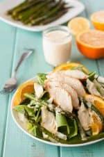 Healthy artichoke asparagus chicken salad recipe