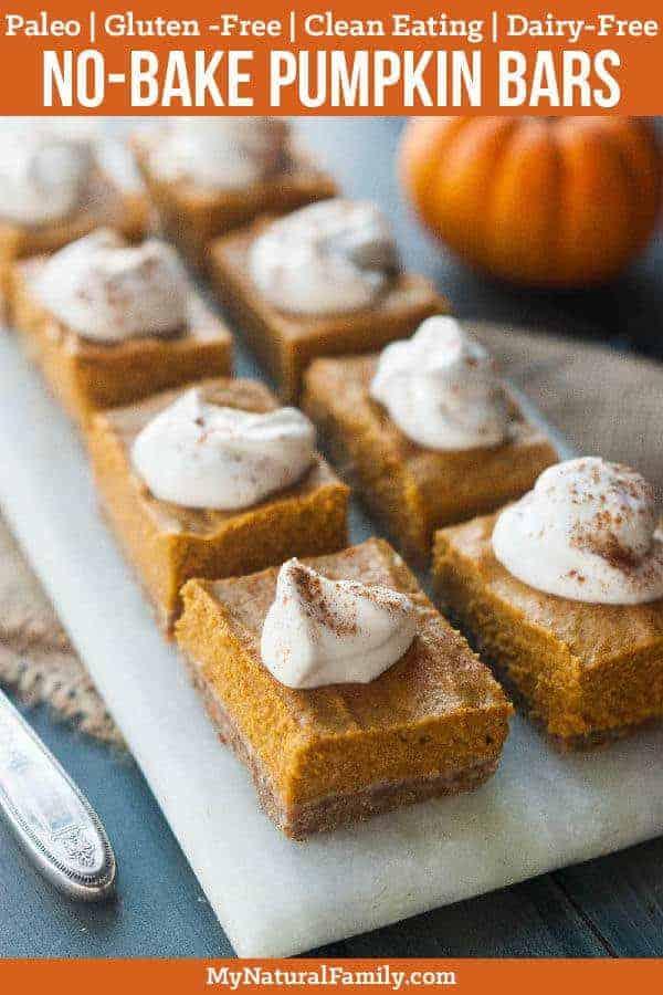 No-Bake Paleo Pumpkin Bars Recipe