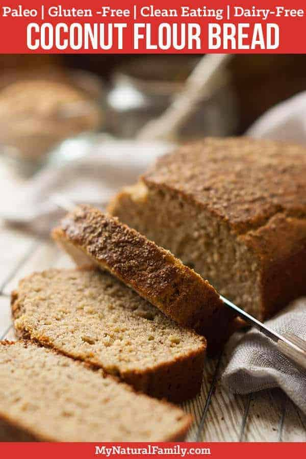 This Paleo bread looks and tastes so similar to a honey wheat bread, thanks to the honey and flax meal. The flax meal gives the bread a somewhat chewy texture while the arrowroot starch helps hold it together. {Gluten-Free, Clean Eating, Dairy-Free} #mynaturalfamily #paleo #paleorecipes #healthyeating #healthyrecipes #healthyfood