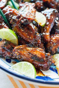 Paleo Honey Lime Sesame Chicken Wings