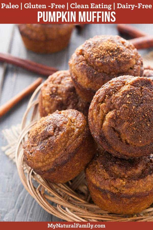 Pumpkin Muffins Recipe {Paleo, Gluten-Free, Clean Eating, Dairy-Free} - These have 3 different Paleo