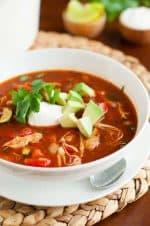 Gluten-Free Chicken Tortilla Soup