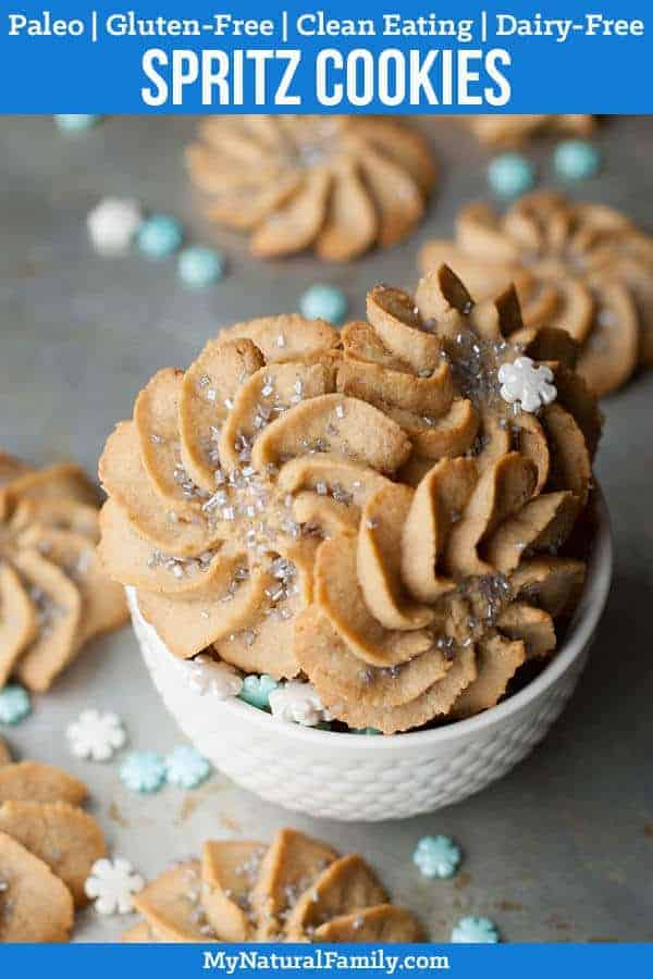 Frozen-Inspired Spritz Cookies Recipe {Paleo, Gluten-Free, Clean Eating} #mynaturalfamily #paleo #paleorecipes #healthyeating #healthyrecipes #healthyfood