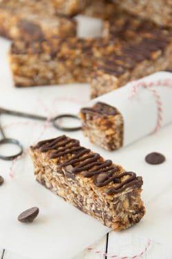 Gluten Free Almond Chocolate Chip Granola bars