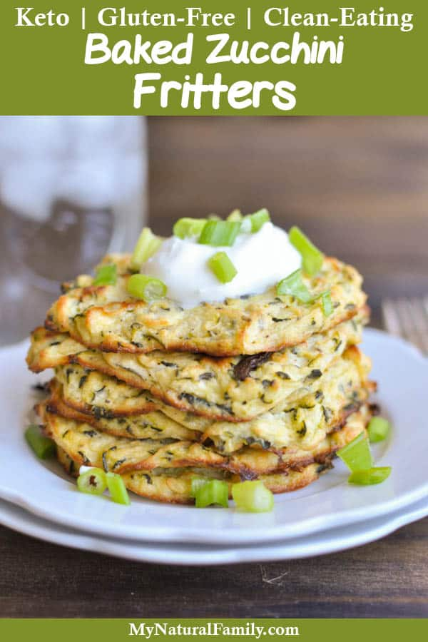 Baked Zucchini Fritters Recipe {Gluten-Free, Keto, Clean Eating}