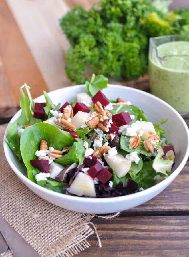 Roasted Beet and Pear Salad Recipe