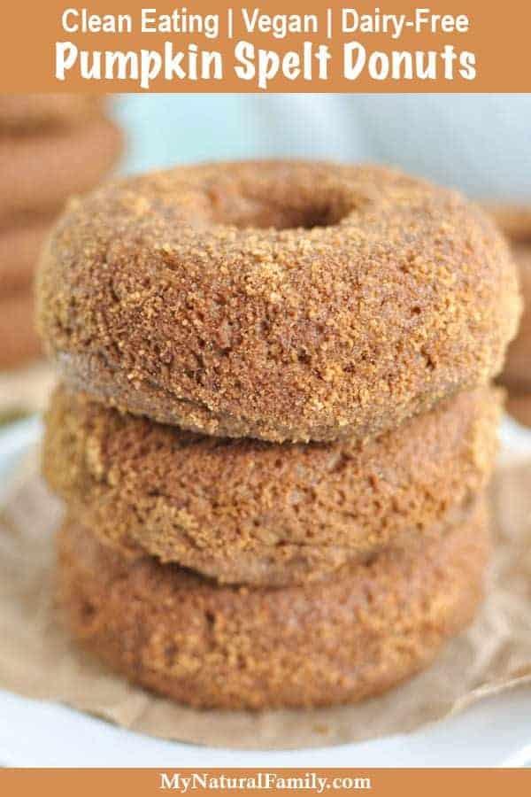 Clean Eating Baked Pumpkin Spelt Donuts {Vegan, Dairy-Free)