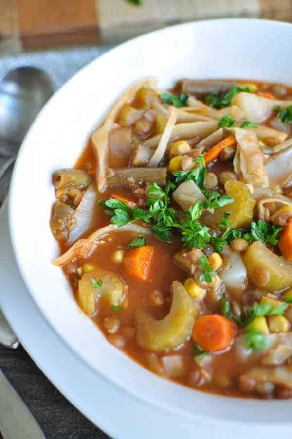 Healthy Lentil Vegetable Soup