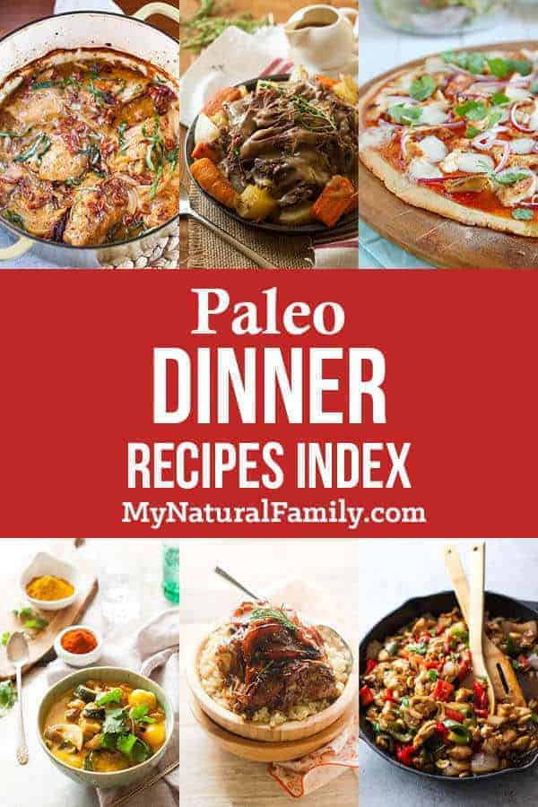 I love the huge selection of Paleo dinner recipes. I'm pinning for later and checking back often for more delicious recipes my family will actually want to eat. #mynaturalfamily #paleo #paleorecipes