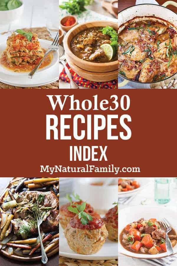 Whole 30 Recipes Index