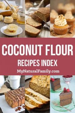 Coconut Flour Recipes Index