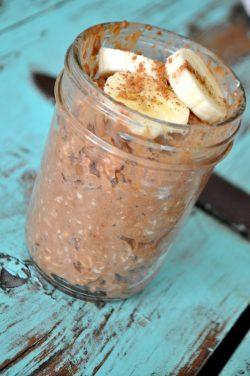 Chocolate Peanut Butter Overnight Oats Recipe